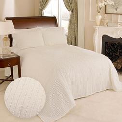 100 percent cotton tufted chenille stripe bedspread