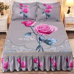 1pc Thickened Sanding <font><b>Bedspread</b></font> Wedding