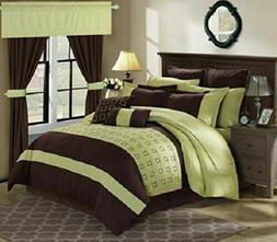 Chic Home 25 Piece Lorde Complete Embroidery Comforter Set,