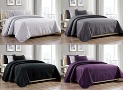3-Piece New Linen Plus Collection Over size Bedspread Coverl