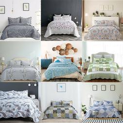 Bedsure 3 Piece Printed Quilt Set Lightweight Bedspread Cove