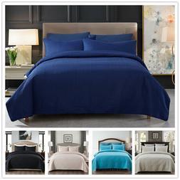 3-Piece Reversible Quilt Set, Bedspread, Coverlet Embossed C