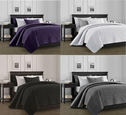 3-Piece Solid Bedspread Coverlet Pillow Case Set at Linen Pl