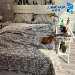 3Pcs 100% Cotton Bedding <font><b>Set</b></font> For Home Eu