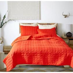 3pcs/lot Orange Color Polyester Quilt <font><b>Sets</b></fon