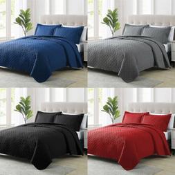 2/3pcs Bedspread Coverlet Set Embossed Bedding Quilt  W/Sham