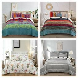 3Pieces Bedspread Coverlet Set Oversized Bed Cover Quilt Que