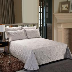 3Pieces King size Luxury 600TC Egyptian Cotton Quilted <font
