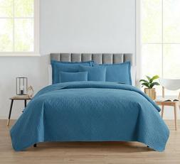 5 Piece Bedspread Coverlet Quilt Set Ultra Soft Lightweight
