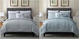 Chezmoi Collection 5-Piece Modern Jacquard Floral Down Alter