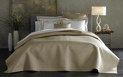 $549+tax MATOUK Alba Nocturne Sateen KING Quilt Coverlet Bed