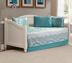 Linen Plus 5pc Daybed Cover Set Quilted Bedspread Floral Tur