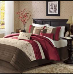 7 Piece Madison Park Comforter Set Bed in a Bag King Size Be