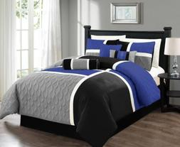 Chezmoi Collection 7pc Medallion Quilted Patchwork Comforter