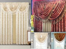 Empire Home Traditional Jacquard Olivia Window Curtain Panel