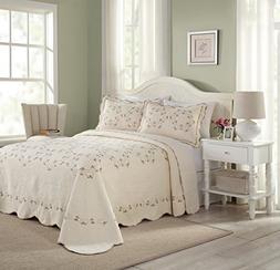 Modern Heirloom Collection Felisa Cotton Filled Bedspread, K