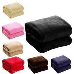 "Soft Micro plush Flannel Fleece Throw Blanket New 50""x 60"" A"