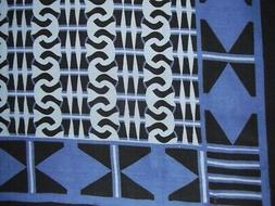 """African Print Tapestry Cotton Spread 106"""" x 70"""" Twin Blue"""
