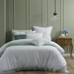 Amalfi White Quilt Duvet Cover| Bianca | Features a superb j