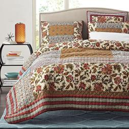 American Handmade Patchwork Quilt <font><b>Set</b></font> 3P