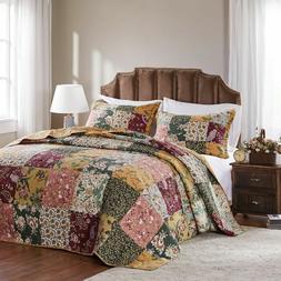 Greenland Home Fashions Antique Chic 3-piece Cotton Bedsprea