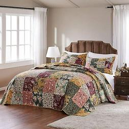 Greenland Home Antique Chic Bedspread Set, Twin, Natural