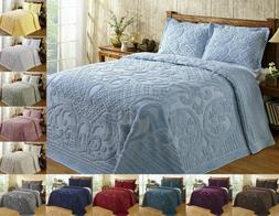 Better Trends Ashton 100% Cotton Tufted Chenille Bedspread A