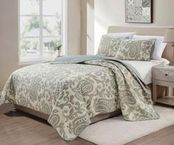 Baker 3-Piece Paisley Printed Motif Soft Washed Microfiber B