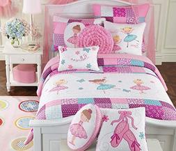 Cozy Line Home Fashions Ballerina Dance Princess Bedding Qui