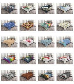 Bed Coverlet Set Quilted Pillow Shams with by Ambesonne Deco
