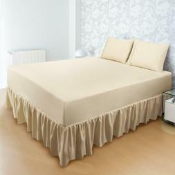 "Bed Skirt Ruffle Brushed Microfiber 16"" Drop Also in Pack of"