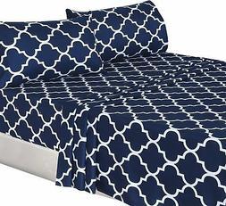 Utopia Bedding 3-Piece Bed Sheet Set  - 1 Flat Sheet, 1 Fitt