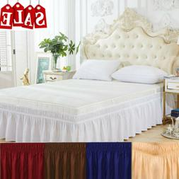 Bed Skirt Fitted Sheet Bedspread Dust Ruffle Drop Covers Twi