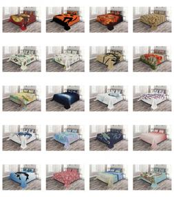 Bedspread Set 2 Shams with Decorative by Ambesonne Printed 3