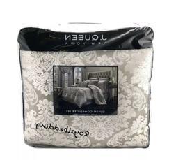J Queen New York Bel Air Sand QUEEN Comforter Shams & Skirt