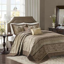 Madison Park Bellagio 5 Piece Reversible Jacquard Bedspread