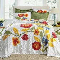 BrylaneHome Bloom Chenille Bedspread