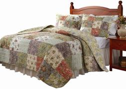 Greenland Home Blooming Prairie Twin Quilt Set