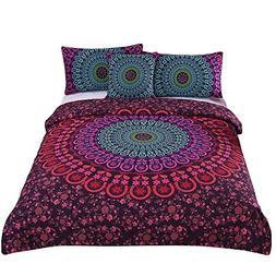 Bohemian Duvet Cover Set Sleepwish 4 Piece Mandala Design Fu