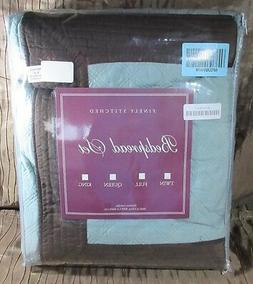 Greenland Home Fashions Brentwood Blue Surf/Espresso Twin 2P