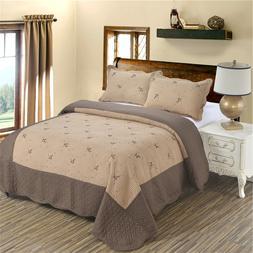 Brown <font><b>Quilts</b></font> Summer Lightweight Bedsprea