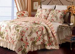 Greenland Home® Butterflies 3-pc. Quilt Set
