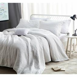 Byourbed BYB Dye-Free Wrinkle Quilt - All Natural White Ston