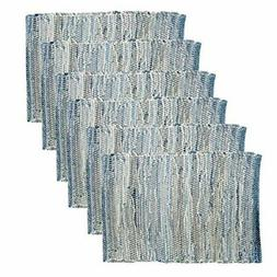 C&F Home Denim Rag Woven Placemat Set of 6