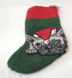 "C&F HOME 21"" Pug French Bulldog Dog Christmas Stocking New W"