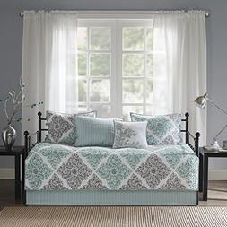 Madison Park Claire Daybed Size Quilt Bedding Set - Aqua, Gr