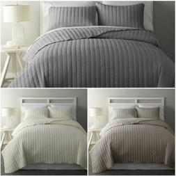 Chezmoi Collection Colin 3-piece Channel Stitched Cotton Bed