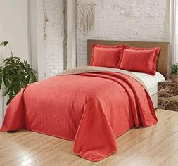 Fancy Collection 2pc Luxury Bedspread Coverlet Embossed Bed