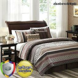 Coverlet Quilted Set Full Queen Size 5Piece Bedspread Cover