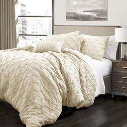Lush Decor Ravello Comforter Pintuck 5 Piece Comforter Set w